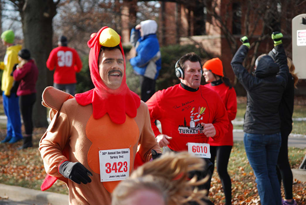 The Dan Gibbons Turkey Trot has become an Elmhurst tradition.