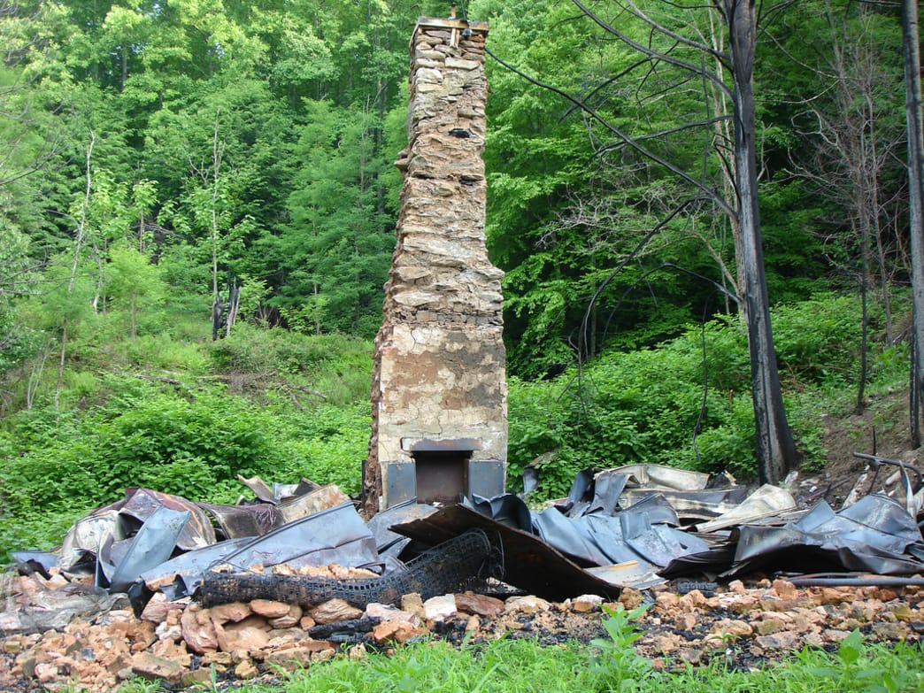 Ruins of an old home in Lost Cove.
