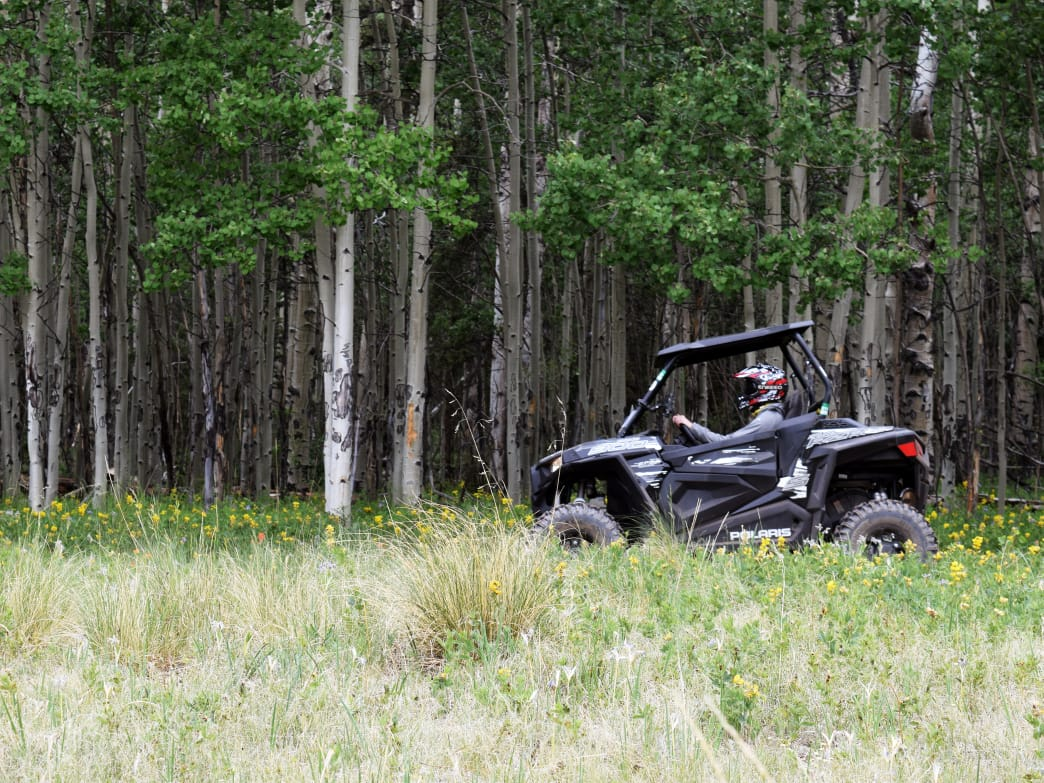 If you've never driven a Polaris RZR before, it doesn't take long to get the hang of it.