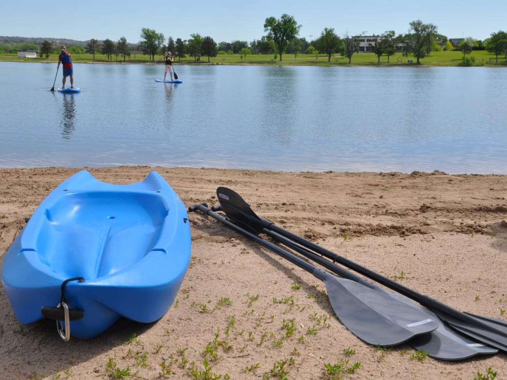 SUP, kayak, or try out a mini-canoe on Prospect Lake.