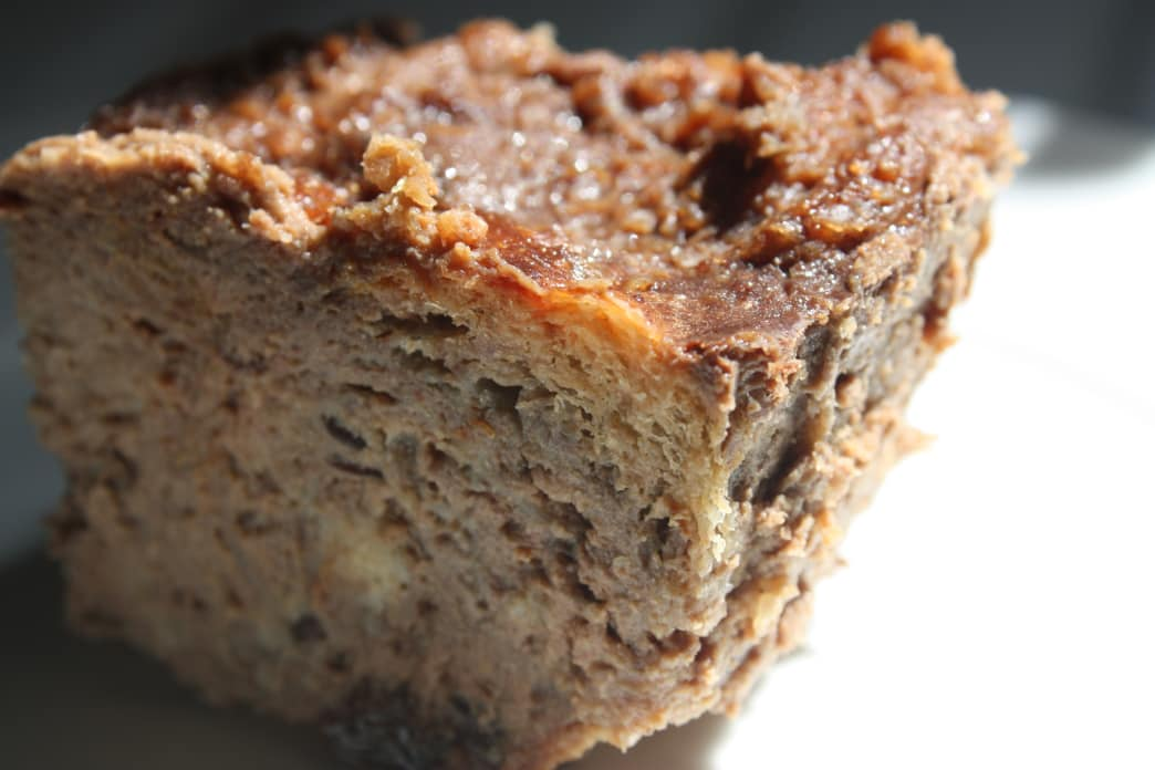 southern camp recipes - bourbon bread pudding