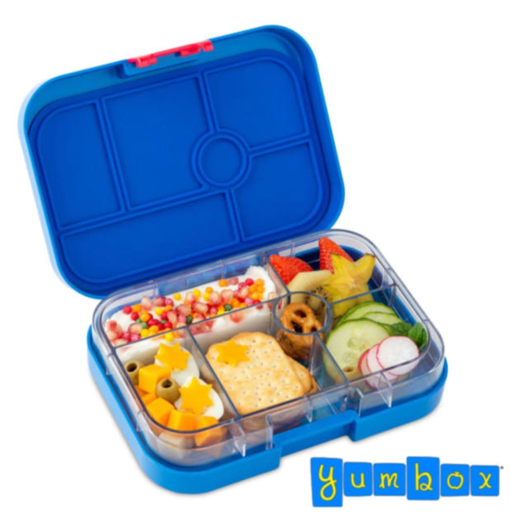 A plastic bento box with 6 sections for food. - . Better Nutrition