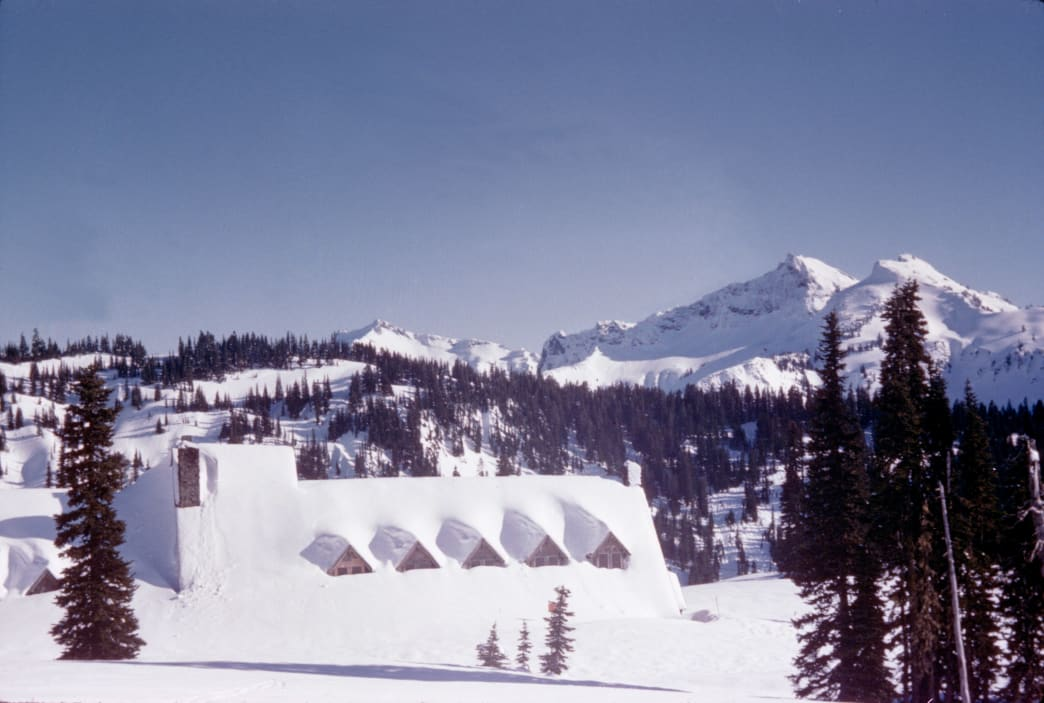 Paradise is the epicenter of winter recreation in Mount Rainier National Park.