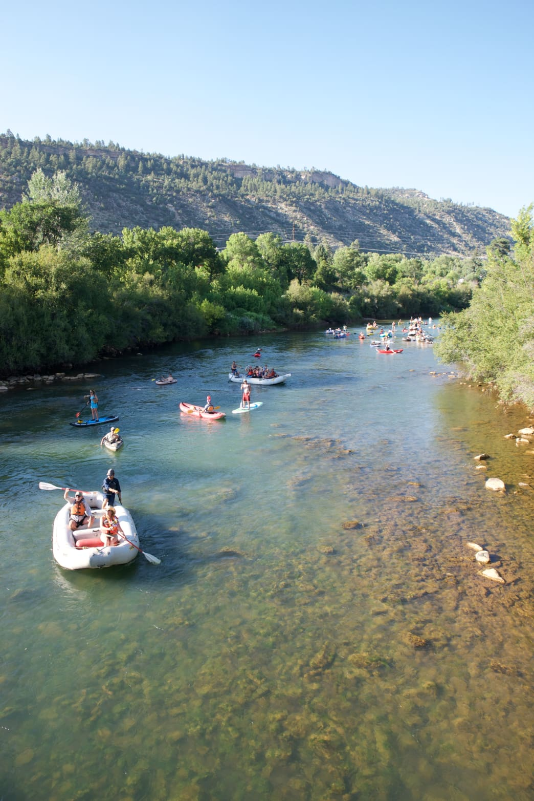 Outfitters can help visitors enjoy a float trip down the Animas in Durango.