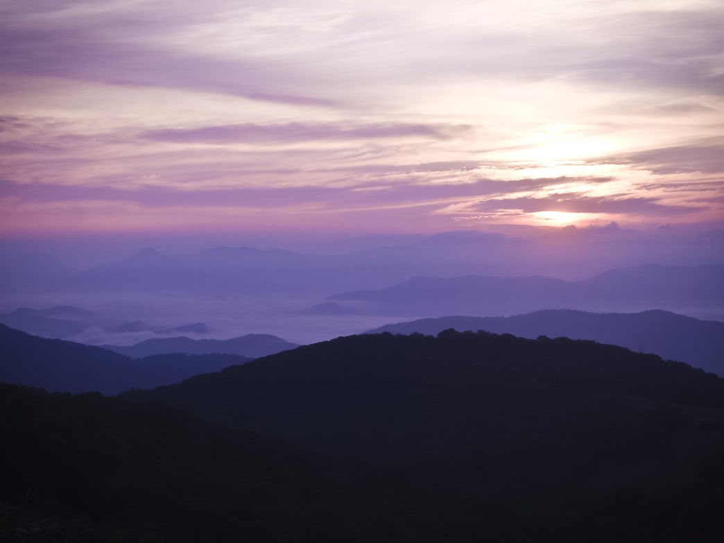 Purple mountains at Max Patch.