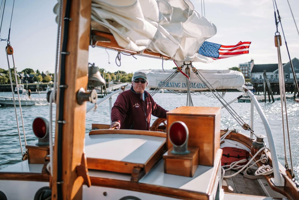 Rockland Harbor is a great jumping off point for exploring Maine's coast by boat.