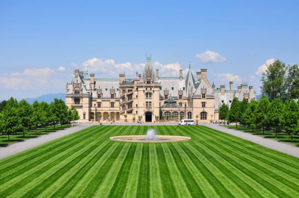 The Biltmore Estate feature more than 8,000 acres of grounds to explore.