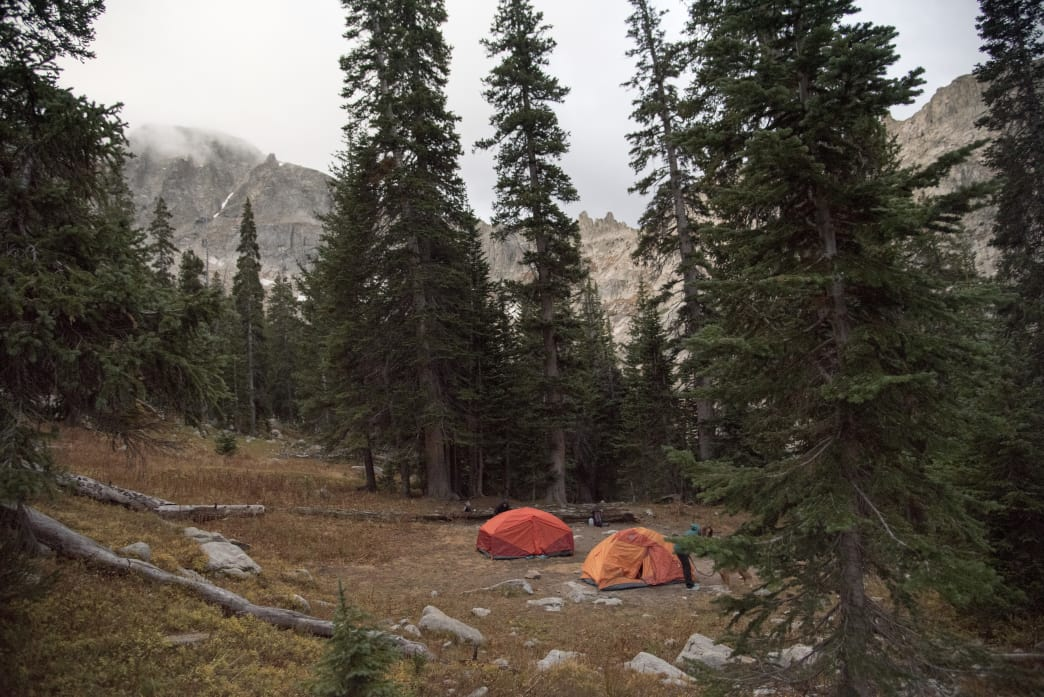 Camping in the Indian Peaks Wilderness near Pawnee Lake.