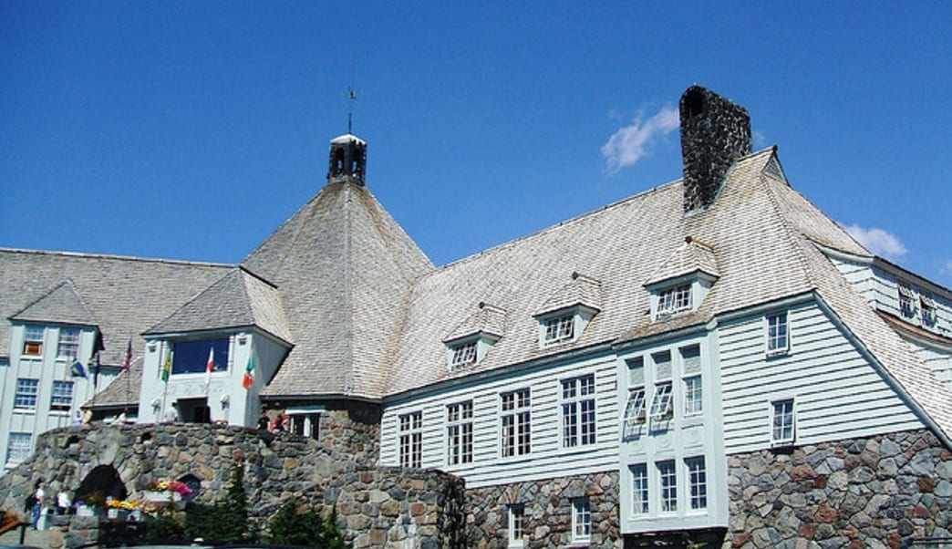 "Timberline Lodge's iconic exterior was filmed for outdoor shots in ""The Shining."""