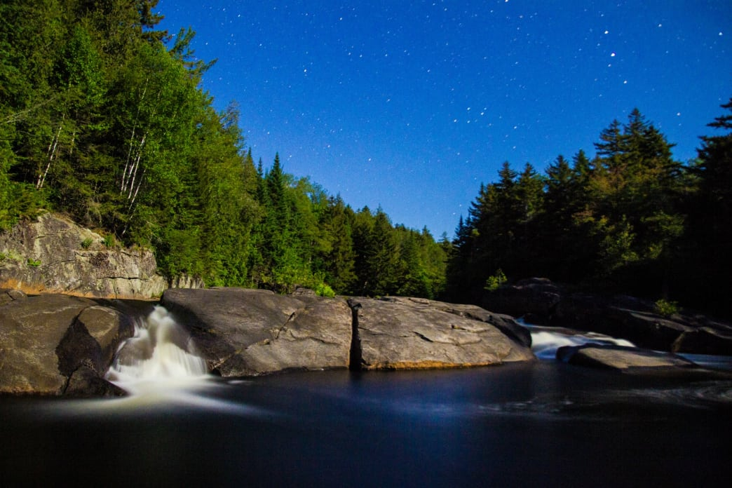 Millers Falls at dusk, one of the top spots on the entire NPT.