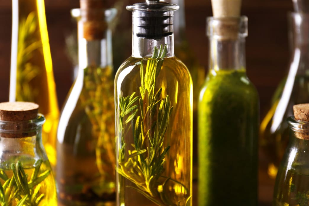Nothing like some garlic-and-rosemary-infused olive oil.