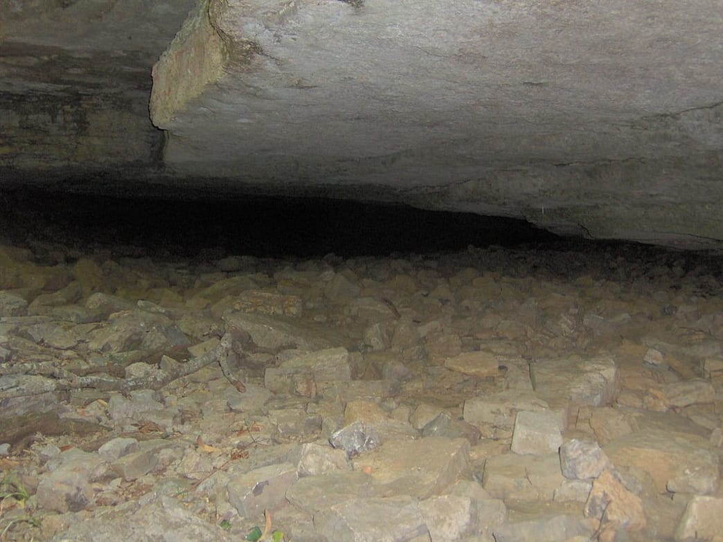 The entrance to Jackson Cave at Cedars of Lebanon State Park