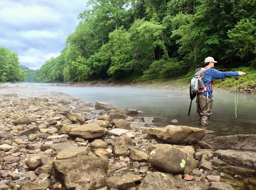 """A """"put and take"""" fishery like the Sipsey Fork gets a lot of fishing traffic.      Thomas Lambert"""