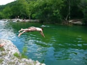 ry dives into barton creek