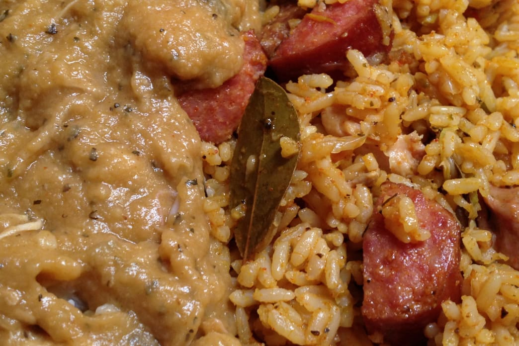 Jambalaya is actually pretty easy to make fireside, as long as you prepare in advance.
