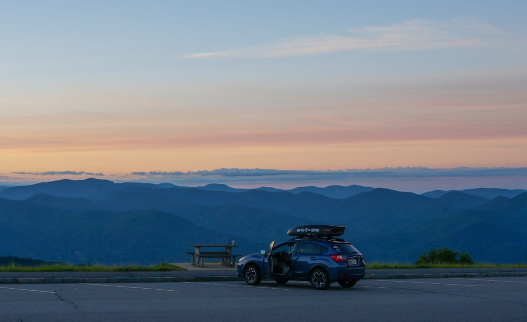 The sunrise from Waterrock Knob at BRP Milepost 451.2.