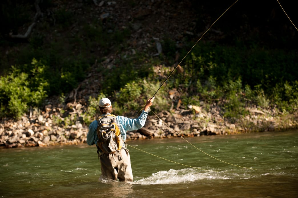 The Gallatin River, known as one of the places where A River Runs Through It was filmed, is filled with scenic options for fly fishing.