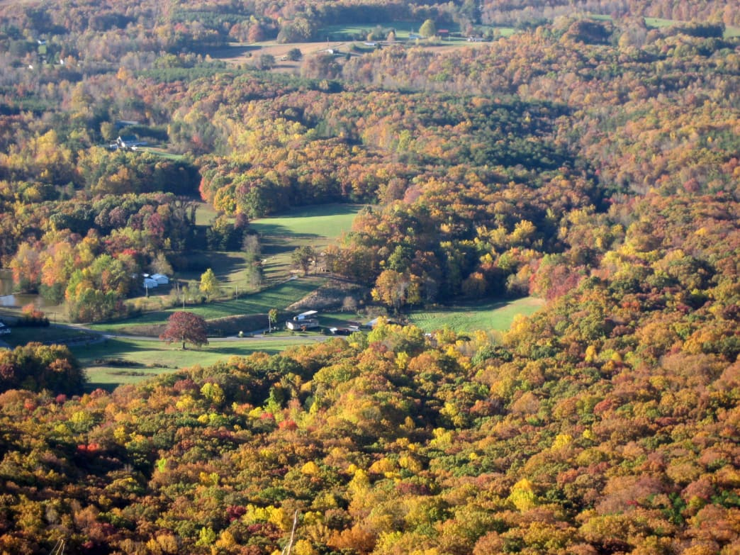 The history of Pilot Mountain State Park shows the growth of nearby farms and homes.