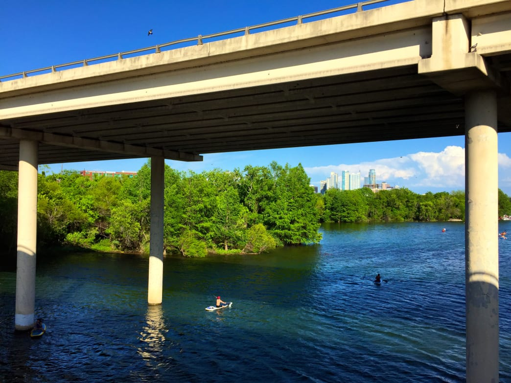 Lady Bird Lake features one of the best urban paddling experiences in the country.