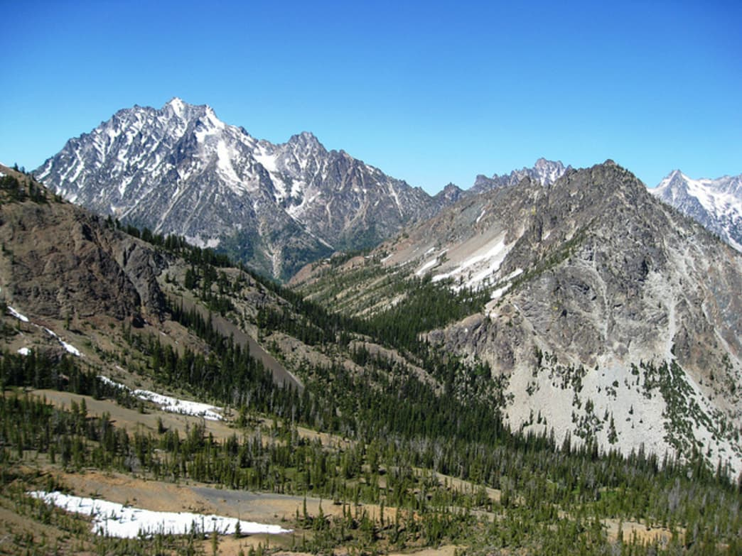 The view of Mount Stuart from Iron Peak is impressive.
