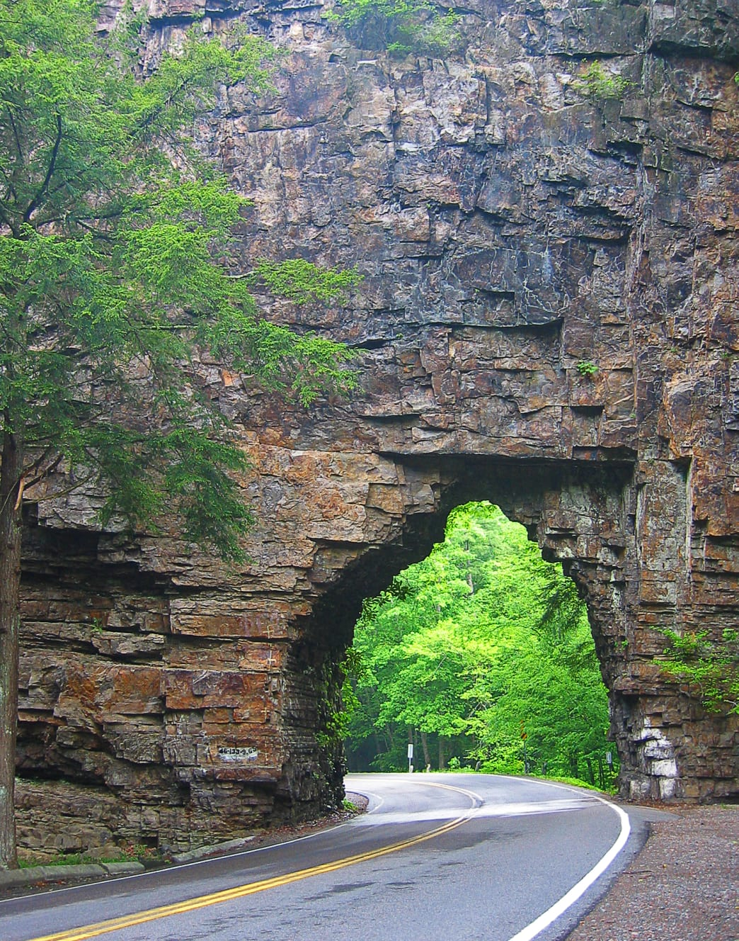 Backbone Rock is a natural tunnel in Tennessee.
