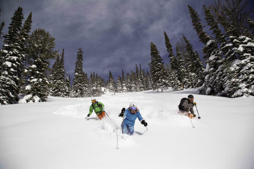 Caution: skiing at Jackson Hole might give you a case of the powder giggles.