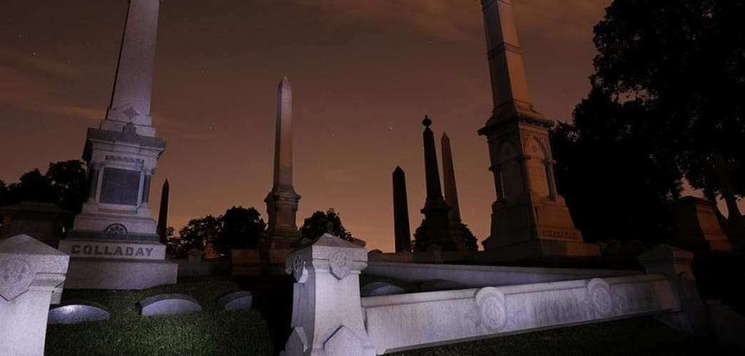 Take a tour of Laurel Hill Cemetery after dark this Halloween weekend.