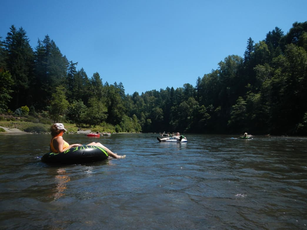 The Sandy River is a popular place to float among Portlanders.