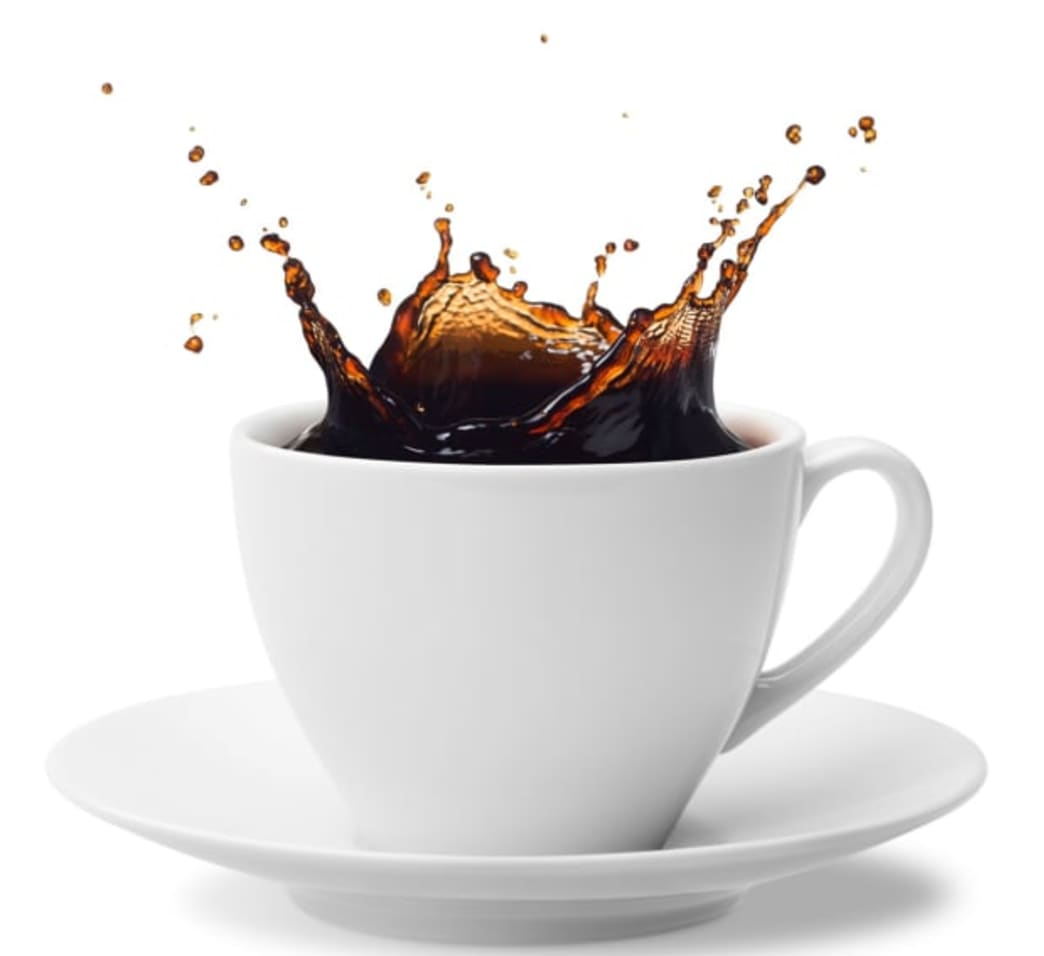 .coffee splashing from a cup - better nutrition