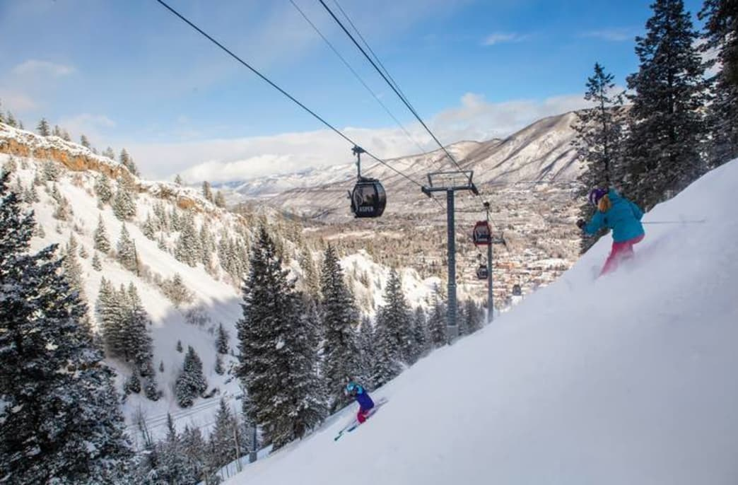 On select spring weekend days, guests can ski until 6 p.m. | Photo: Aspen Snowmass