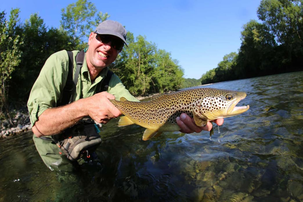 Often, bigger trout are found feeding on the bottom.