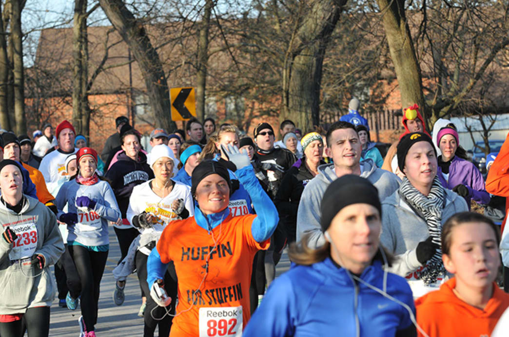 The Naperville Noon Lions Turkey Trot draws 7,500 runners each year.