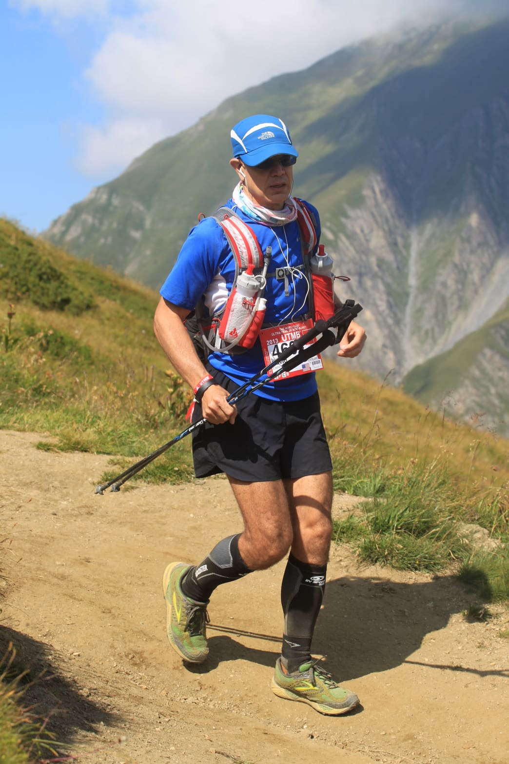 David Carder racing Ultra Trail Mont Blanc