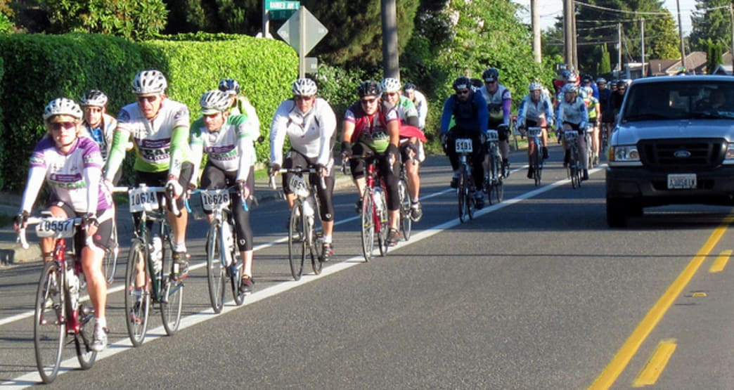 The STP Ride attracts thousands of cyclists each year.
