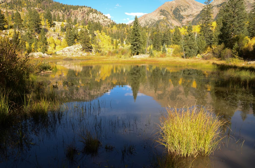 Spud Lake can be a colorful, beautiful in Autumn.