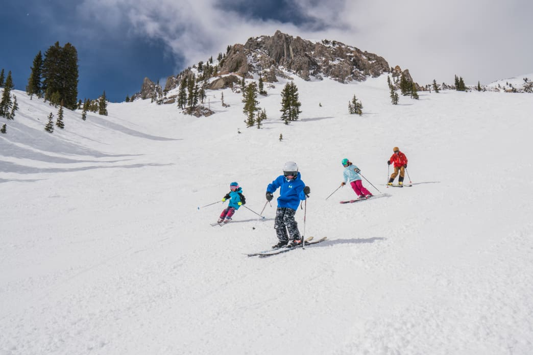Learning to ski at Snowbird.     Corey Kopischke