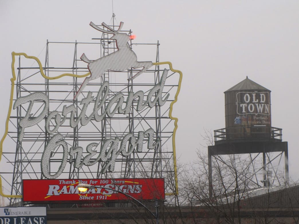 The Holiday Half Marathon and 5k is one of the myriad events and attractions that makes Portland such a festive place during the holiday season. The famed white stag sign, complete with Rudolph's light-up nose, is another holiday icon around Portland.