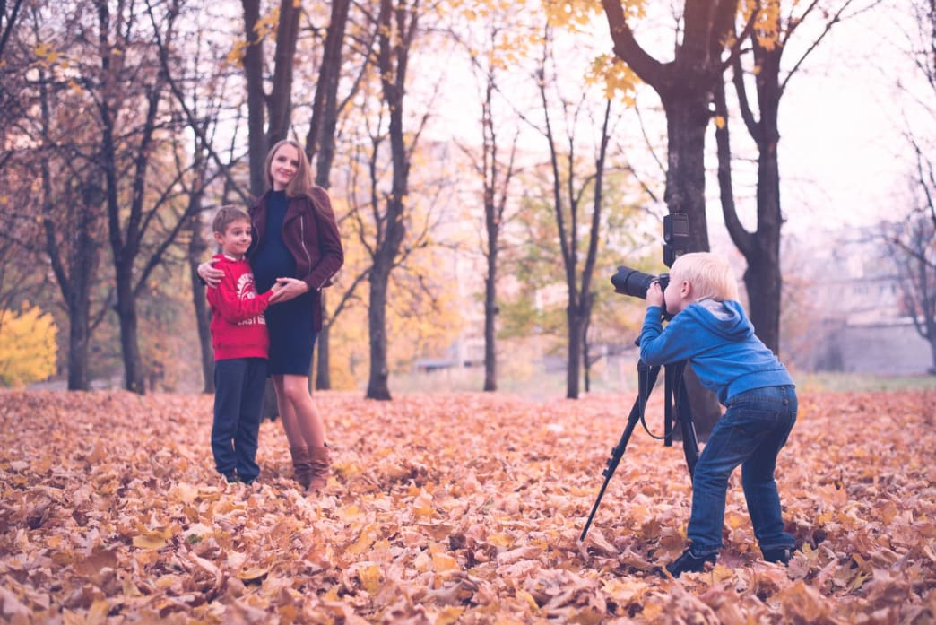 Make sure to train future generations on the fine art of family portraits. Some day you'll be too old to bother and someone has to get the job done.