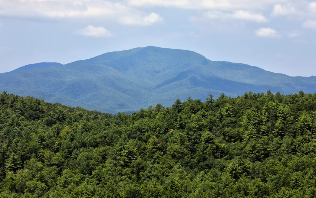 Rabun Bald is the second highest peak in Georgia.