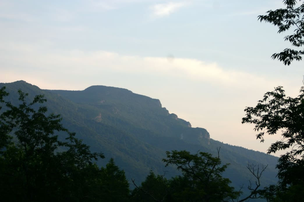 The profile of Grandfather Mountain.