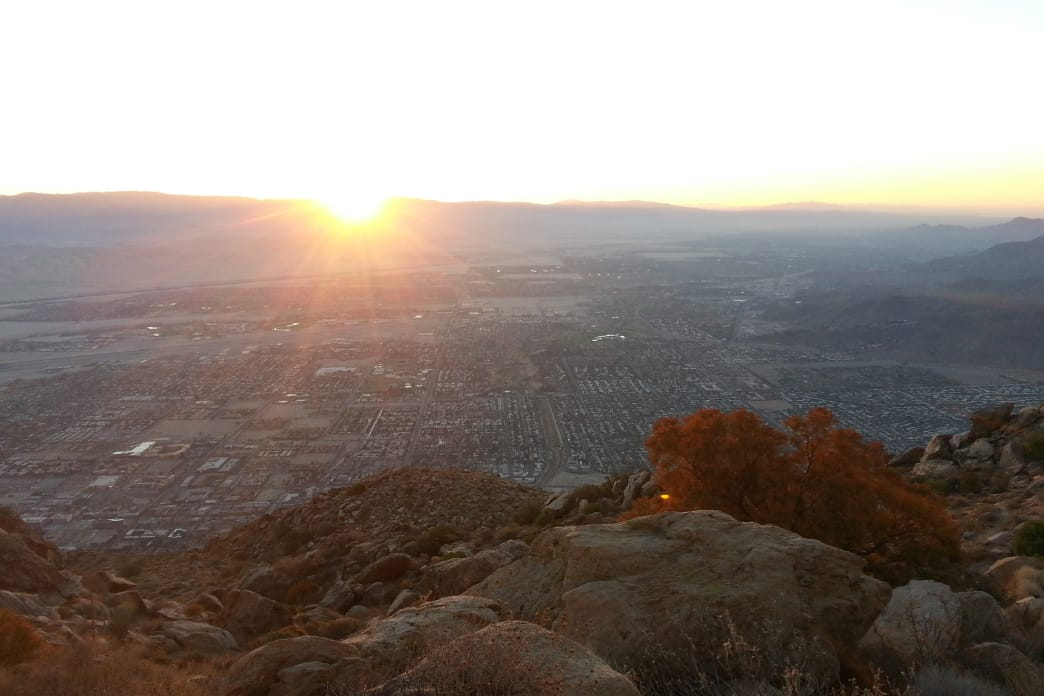 A Palm Springs Sunrise on the Skyline Trail. Craig Pulsipher
