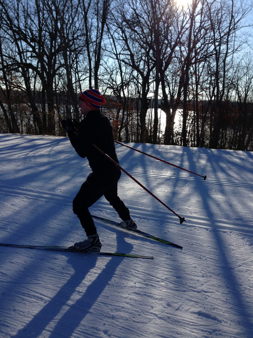 Hyland Lake Park Reserve features snowmaking to allow skiing when the natural stuff isn't around.