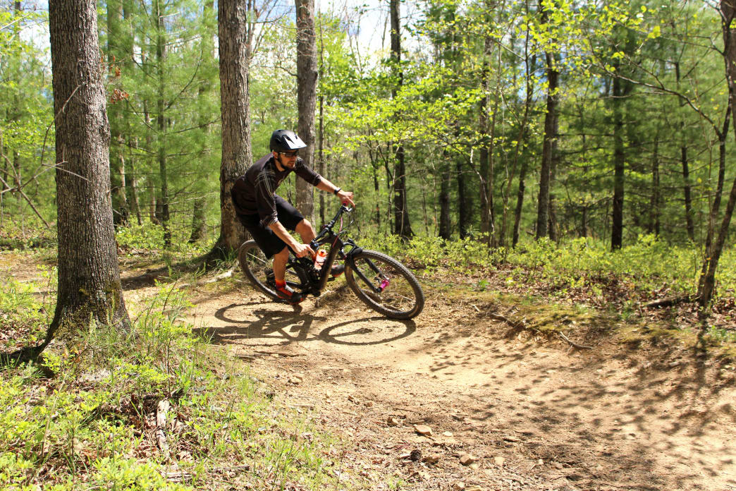 The Pandapas Pond Day Use Area features some of the toughest riding in the area, with some serious climbing and hairpin switchbacks to test even expert riders.      Dylan Jones