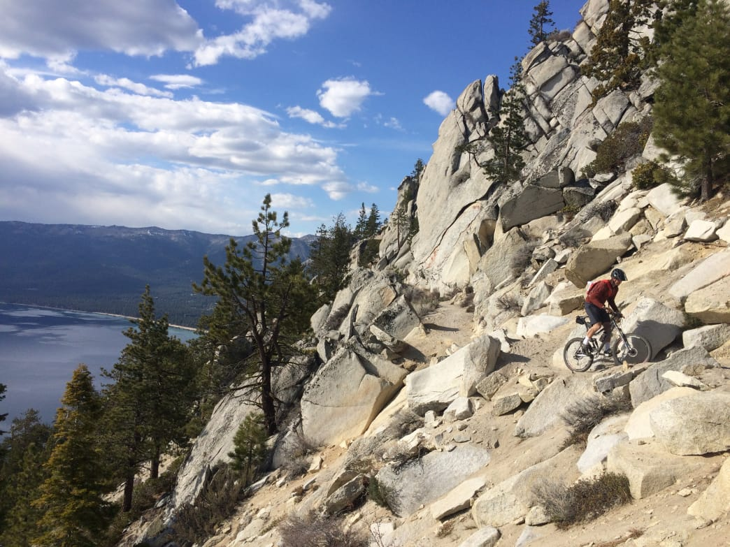 Biking the technical Flume Trail is a jaw-dropping experience.