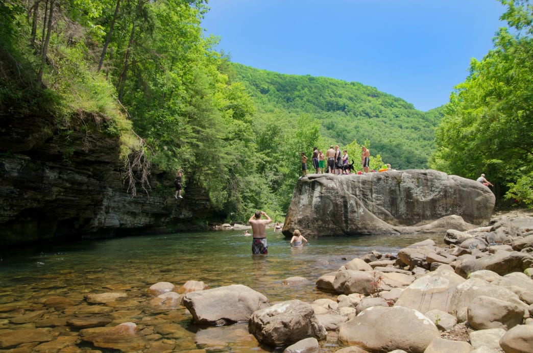 A series of seriously awesome swimming holes make this destination an absolute must during the summer months.