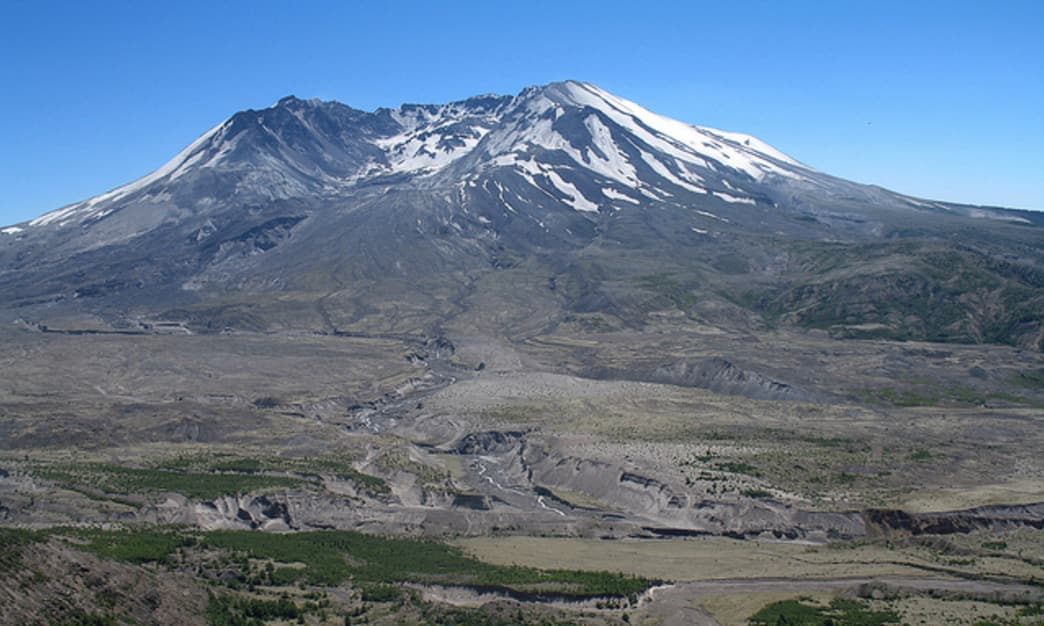 Thirty five years after its historic eruption, Mount St. Helens remains a popular hiking and mountain biking destination today.
