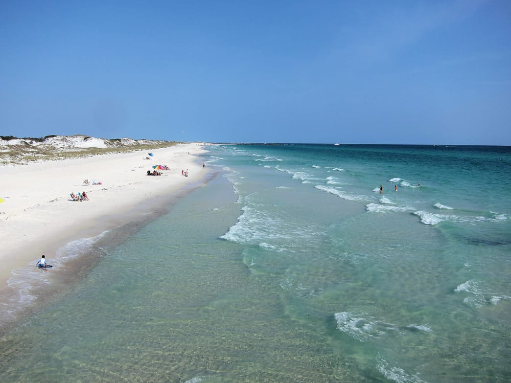 The jetties at St. Andrews State Park are teeming with tropical fish, rays, and crabs.