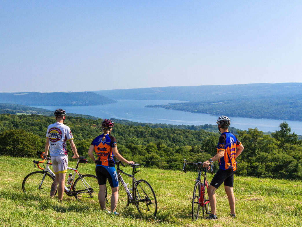 You can rent a bike or bring your own to earn these views of Keuka Lake.