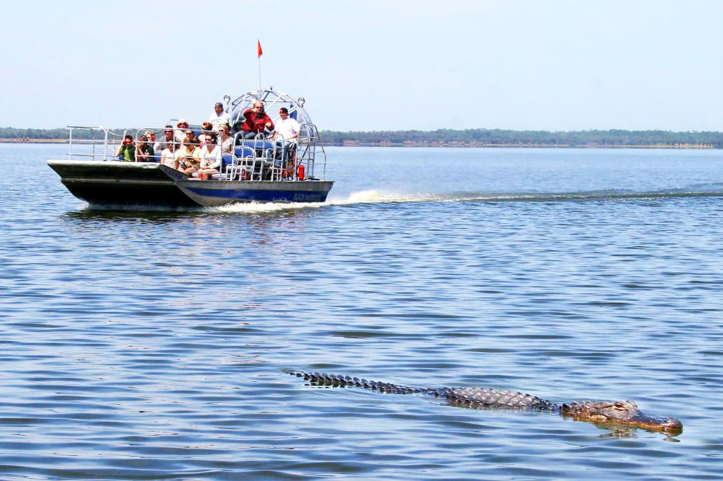 Airboat ride on Lake Jesup