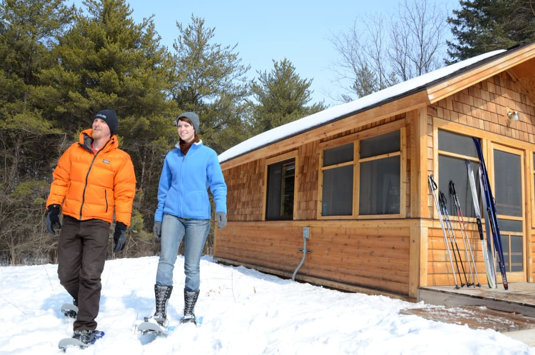 Afton State Park features camper cabins and yurts available for rent year-round.